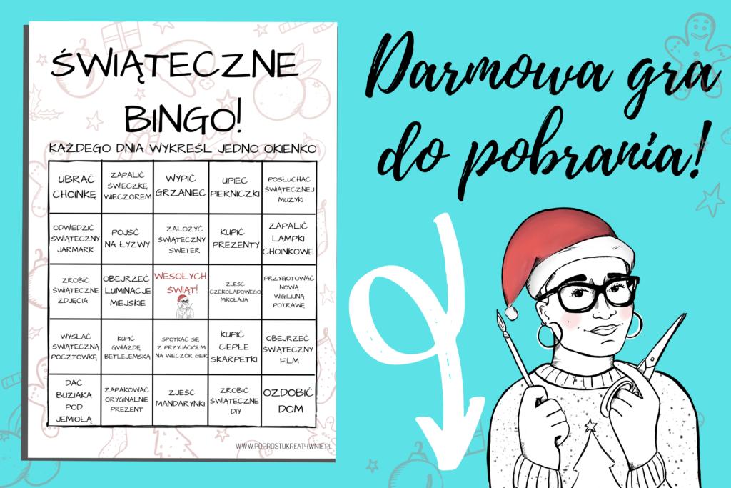 świąteczne bingo do pobrania
