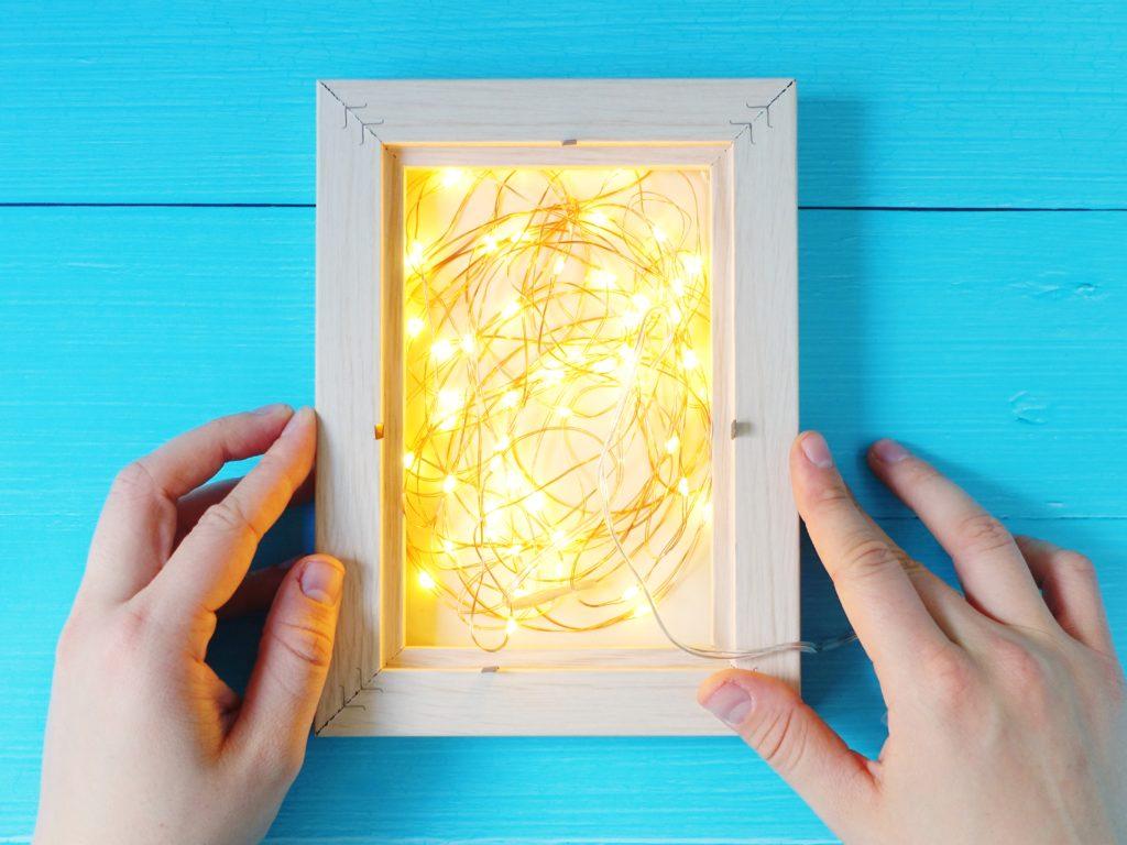Podświetlana ramka - lampki