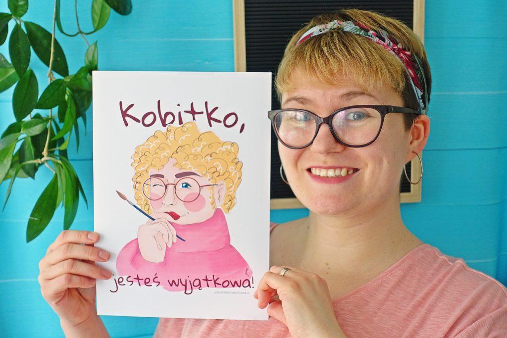"""Plakat """"Kobitko, jesteś wyjątkowa"""""""